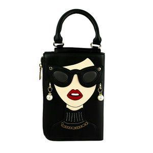 Ngil Bags - Hollywood Glam Girl Black Clutch Crossbody